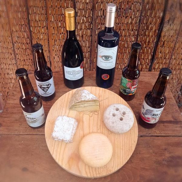 maridaje de vino cerveza y queso artesano