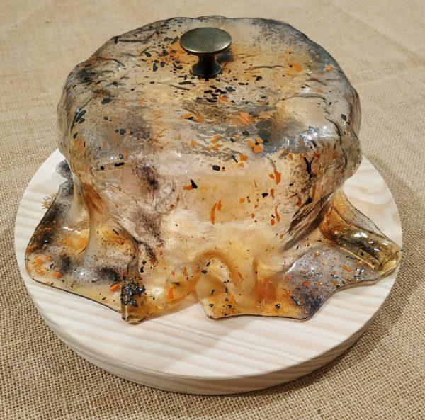 quesera de vidrio artesana hecha a mano regalo queso original