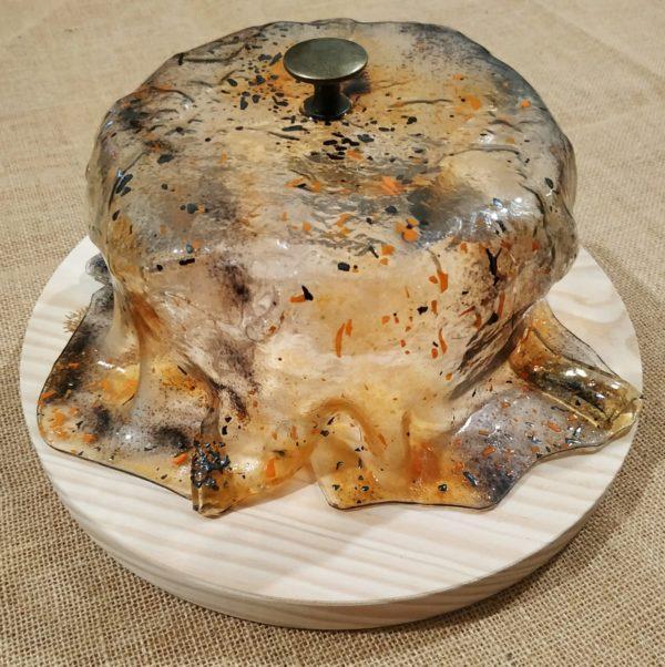 quesera vidrio artesanal