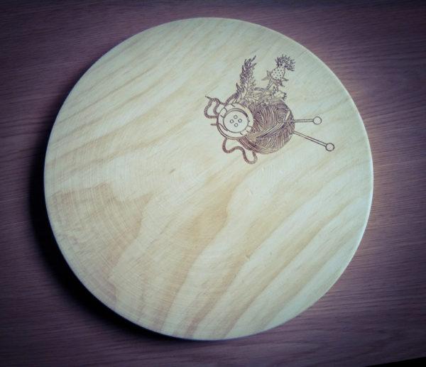 tabla cortar queso artesana pirograbada