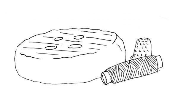 botón de queso oveja semicurado
