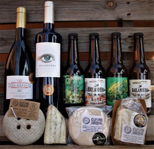 Maridaje queso vino y cerveza artesanos Madrid